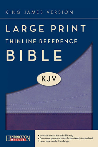 KJV Large Print Thinline Reference Bible, Violet/Lilac