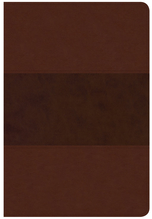 CSB Giant Print Reference Bible, Saddle Brown LeatherTouch