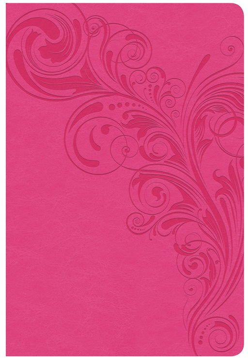 CSB Giant Print Reference Bible, Pink LeatherTouch