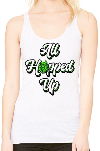 All Hopped Up White Beer Tank - Side Street Print