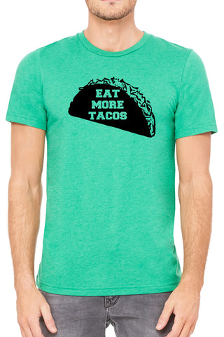 Eat More Tacos Mens T Shirt - Side Street Print
