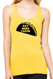 Eat More Tacos Ladies Tank - Side Street Print