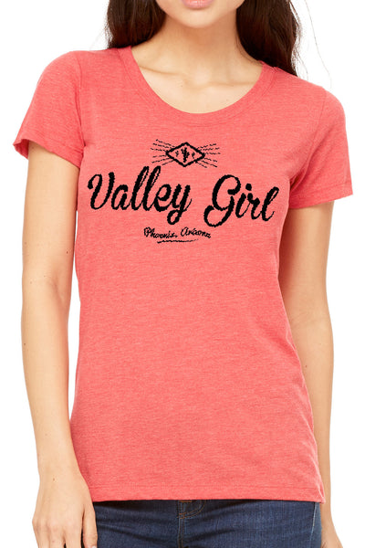 Valley Girl Ladies T Shirt - Side Street Print