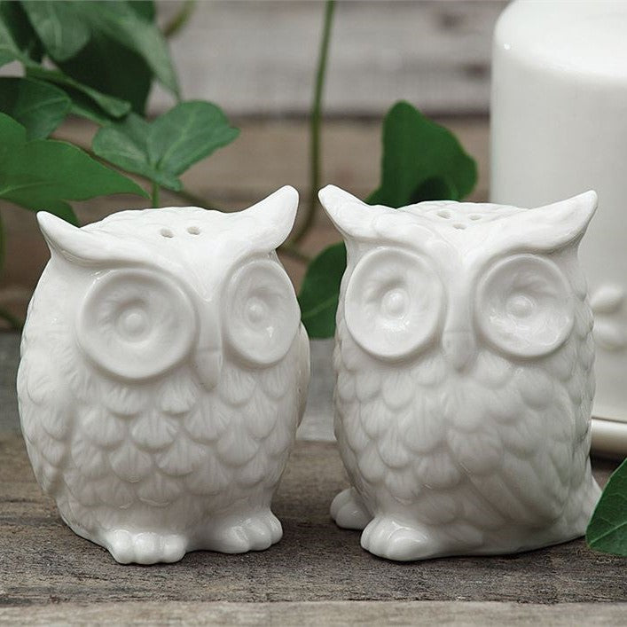 Ceramic Owls Salt & Pepper Shakers