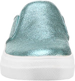 "Nina ""Gail"" Sneaker Mule Aqua Metallic Crackle"