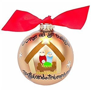 "Coton Colors ""O Come All Ye Faithful"" Ornament"
