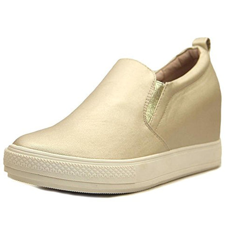 "Wanted Women's ""Pocono"" Wedge Sneaker Gold"