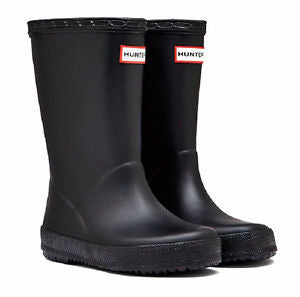 "Hunter Kids ""First Classic"" Wellington Boots Black"