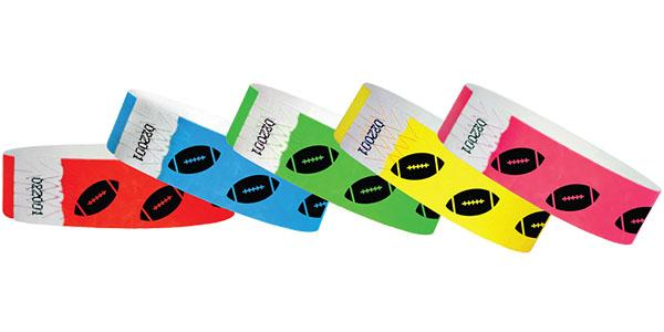 3/4 Football Wristbands