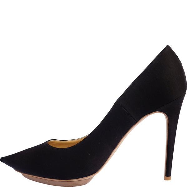 STELLA MCCARTNEY SATIN POINTED-TOE PUMPS