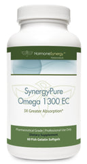 SynergyPure Omega 1300 | 1300 EC Fish Oil | 60 Softgels | Free Shipping!