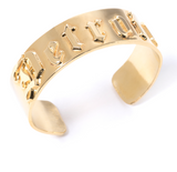 'D' Cuff-18k Gold Plated Detroit