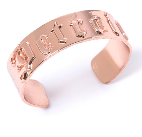 'D' Cuff-Rose Gold Plated Detroit
