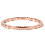 Rose Gold Bangle with 1 Diamond Miami