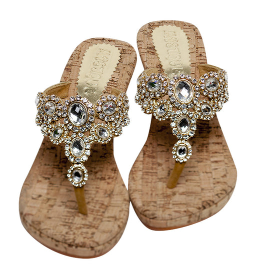 Mystique cork wedge Glamour sandals (5523wedge)