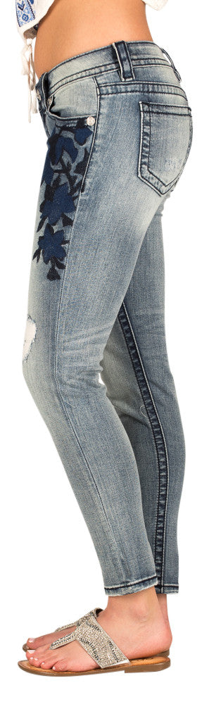 Miss Me Sapphire ankle length skinny jeans