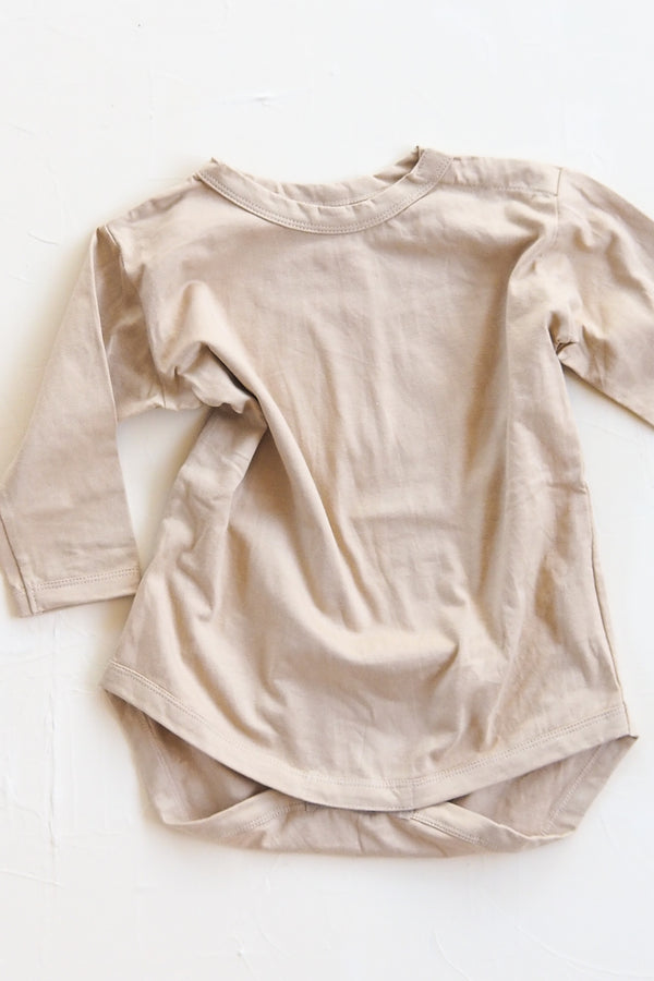 The Basic Top Onesie - Sand