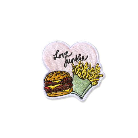 Cool Girls Club Love Junkie Burger and Fries Patch