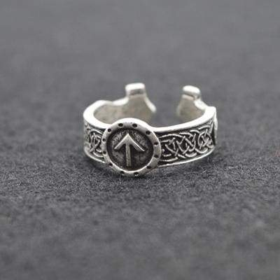 Retro Viking Ring - Antique Silver - Rings Jewelry Rings Vikings