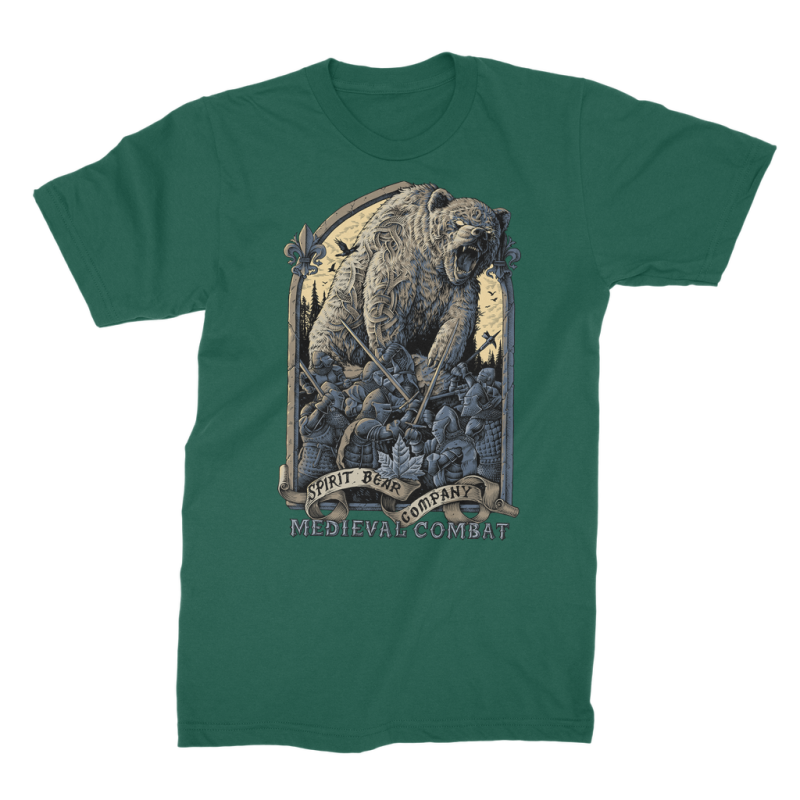 Spirit Bear Company - Medieval Combat Premium Jersey Mens T-Shirt - Dark Green / Male / S - Apparel Apparel