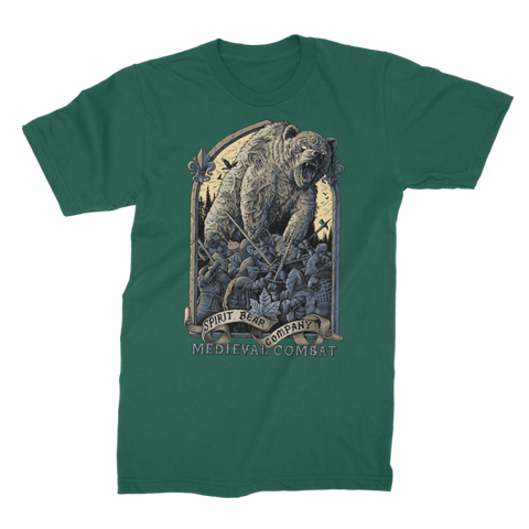 Image of Spirit Bear Company - Medieval Combat Premium Jersey Mens T-Shirt - Dark Green / Male / S - Apparel Apparel