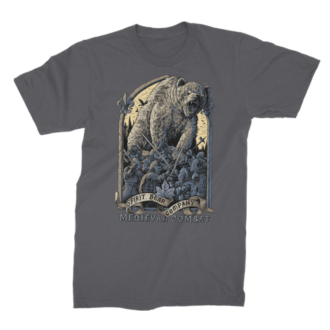 Image of Spirit Bear Company - Medieval Combat Premium Jersey Mens T-Shirt - Dark Grey / Male / S - Apparel Apparel