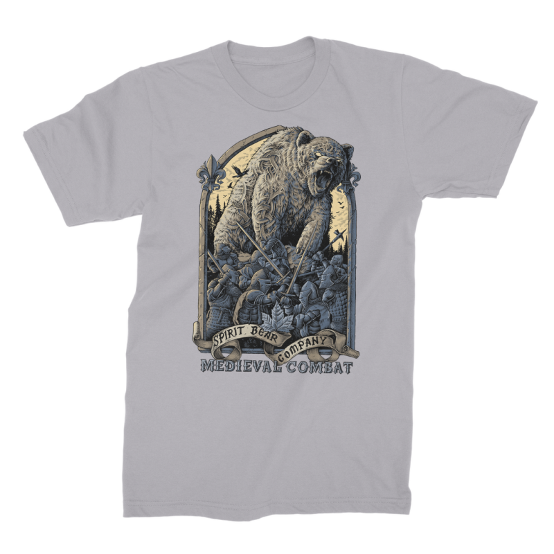 Spirit Bear Company - Medieval Combat Premium Jersey Mens T-Shirt - Light Grey / Male / S - Apparel Apparel
