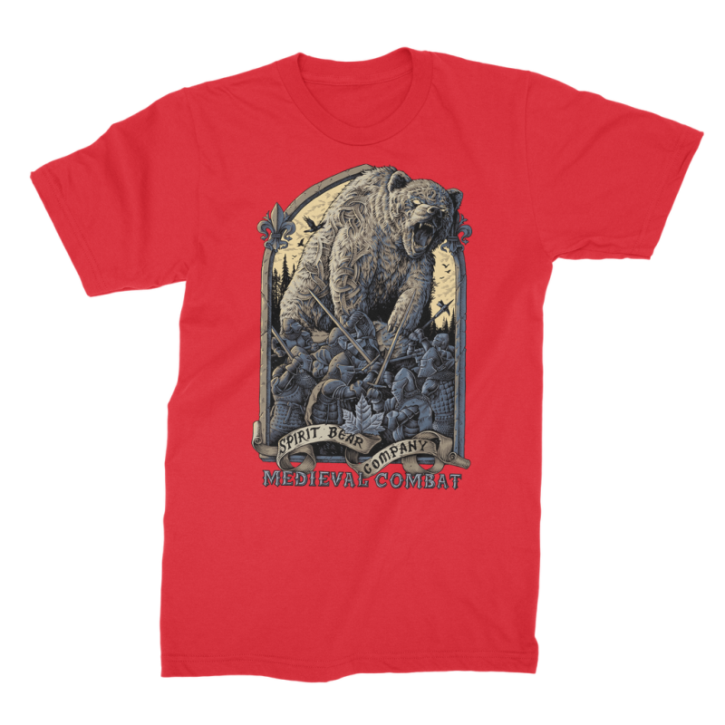 Spirit Bear Company - Medieval Combat Premium Jersey Mens T-Shirt - Red / Male / S - Apparel Apparel