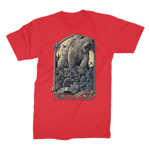 Image of Spirit Bear Company - Medieval Combat Premium Jersey Mens T-Shirt - Red / Male / S - Apparel Apparel