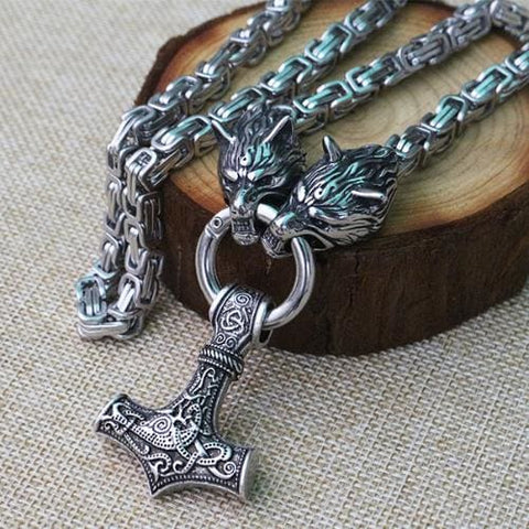 Image of Thors Hammer Mjölnir Handcrafted - Viking Necklace Jewelry Necklace Vikings