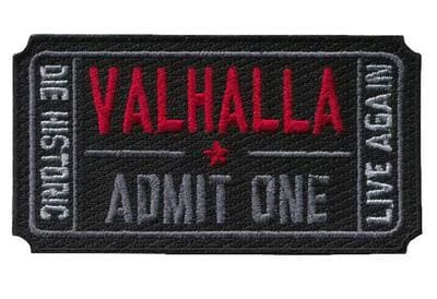 Ticket To Valhalla Tactical Vikings Patch - Black - Patches Patches Vikings