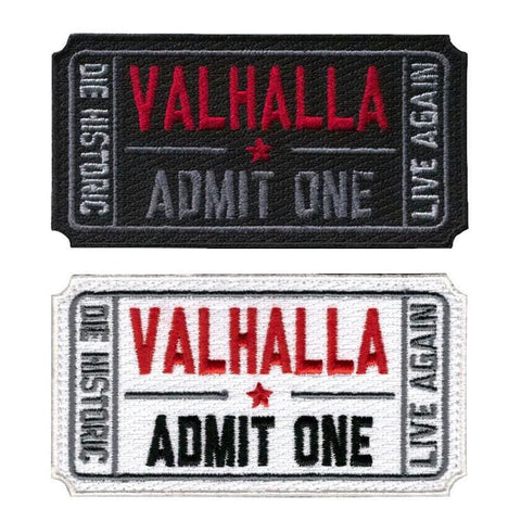 Image of Ticket To Valhalla Tactical Vikings Patch - Patches Patches Vikings