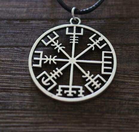 Vegvisir Compass Pendant - Antique Silver Plated - Viking Necklace Jewelry Necklace Vikings