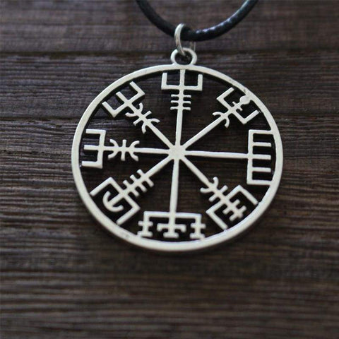 Image of Vegvisir Compass Pendant - Viking Necklace Jewelry Necklace Vikings