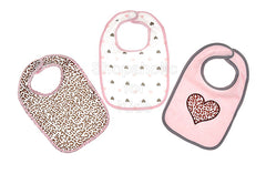 Baby Kiss Cheetah Heart Bibs - Pack of 3 - Shopaholic for Kids
