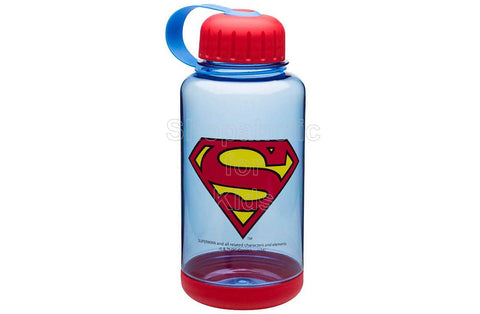 DC Comics Superman Wide-Mouth Water Bottle with Grip Base