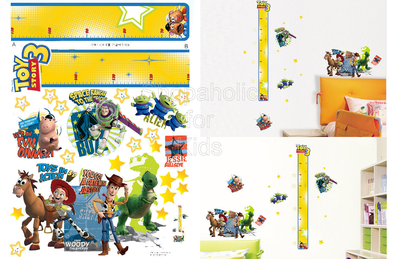 Toy Story Height Chart Wall Sticker - Shopaholic for Kids