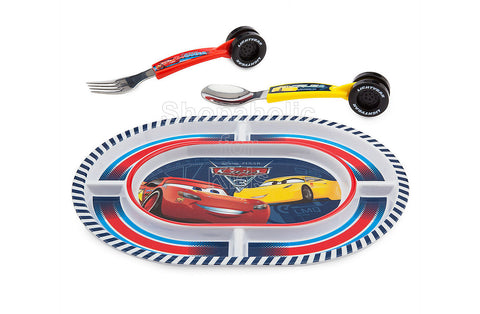 Disney Cars 3 Plate and Flatware Set
