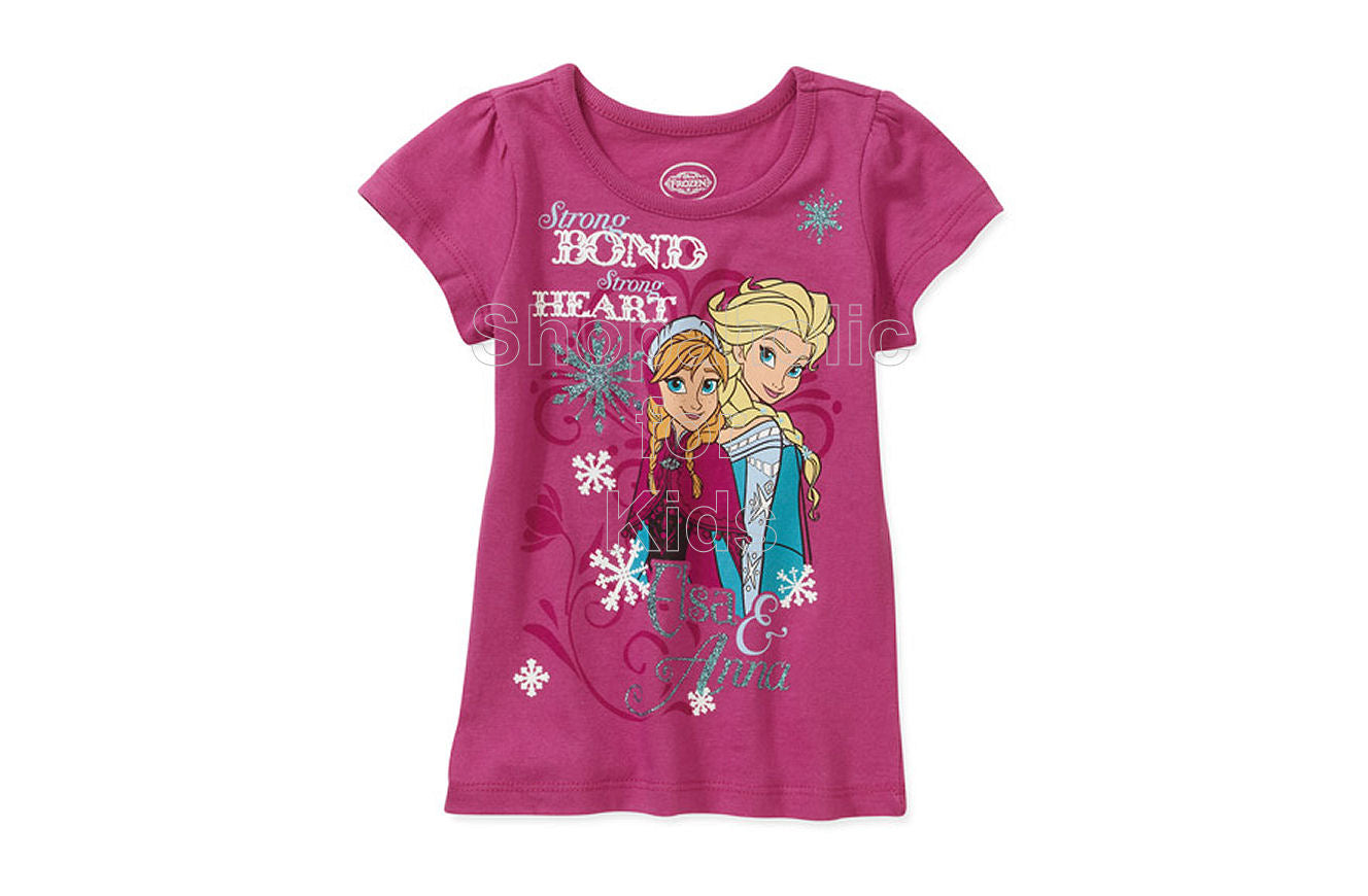 Disney Frozen Elsa and Anna Strong Bond and Heart T-Shirt - Shopaholic for Kids