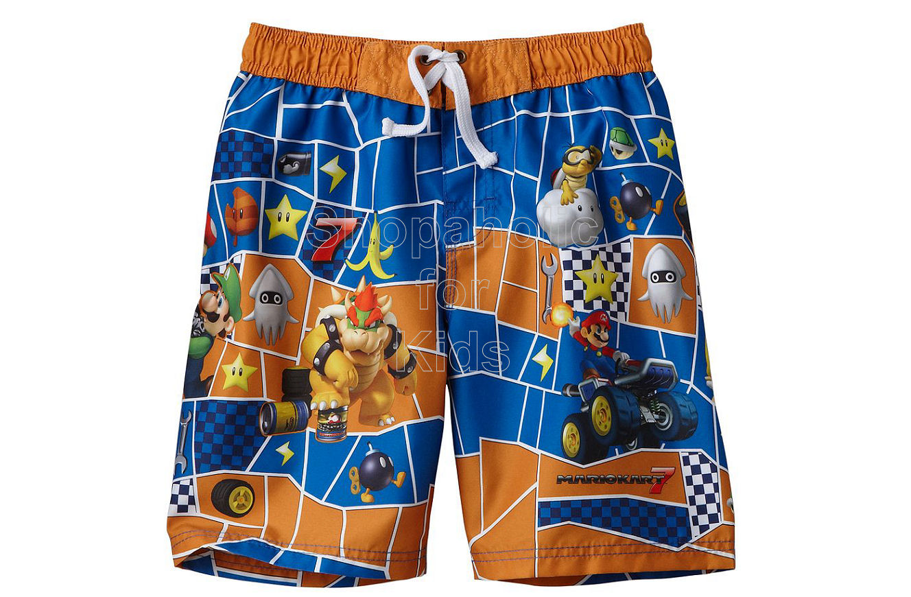MarioKart 7 Character Swim Trunks - Boy Orange