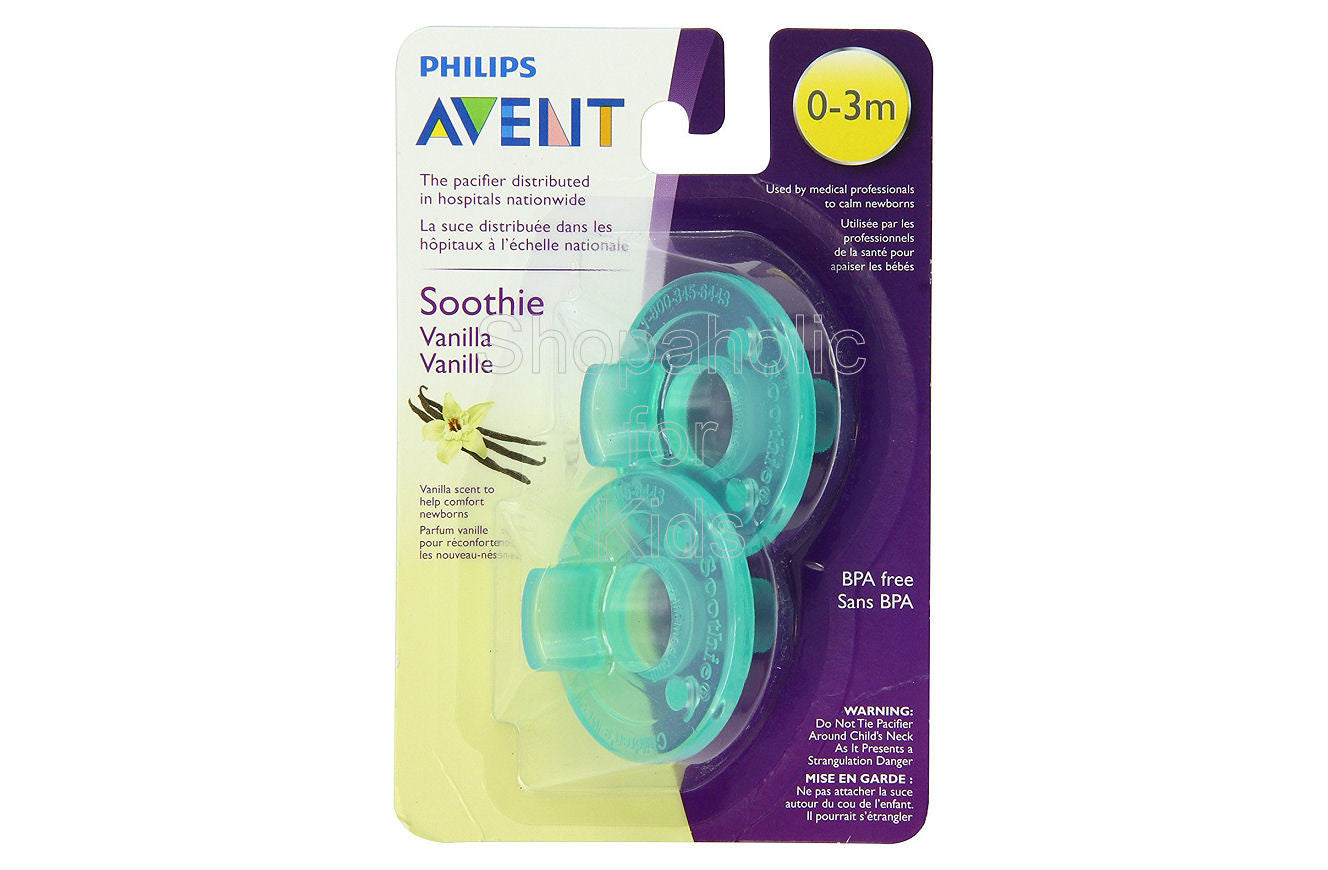 Philips Avent - Vanilla Scented Soothie Pacifier, Green, 0-3 Months, Pack of 2 - Shopaholic for Kids