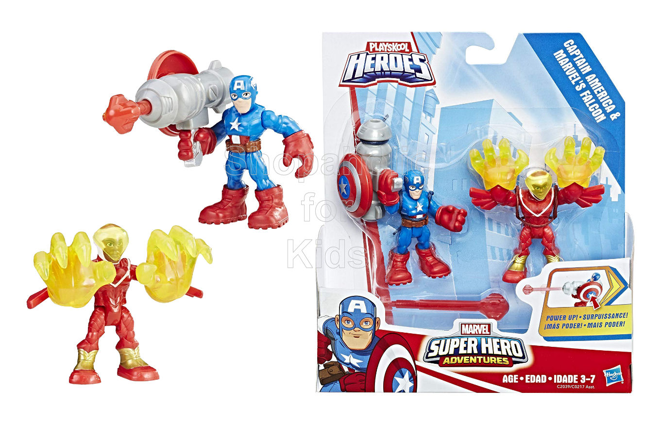 Playskool Heroes Marvel Super Hero Adventures Captain America and Marvel's Falcon