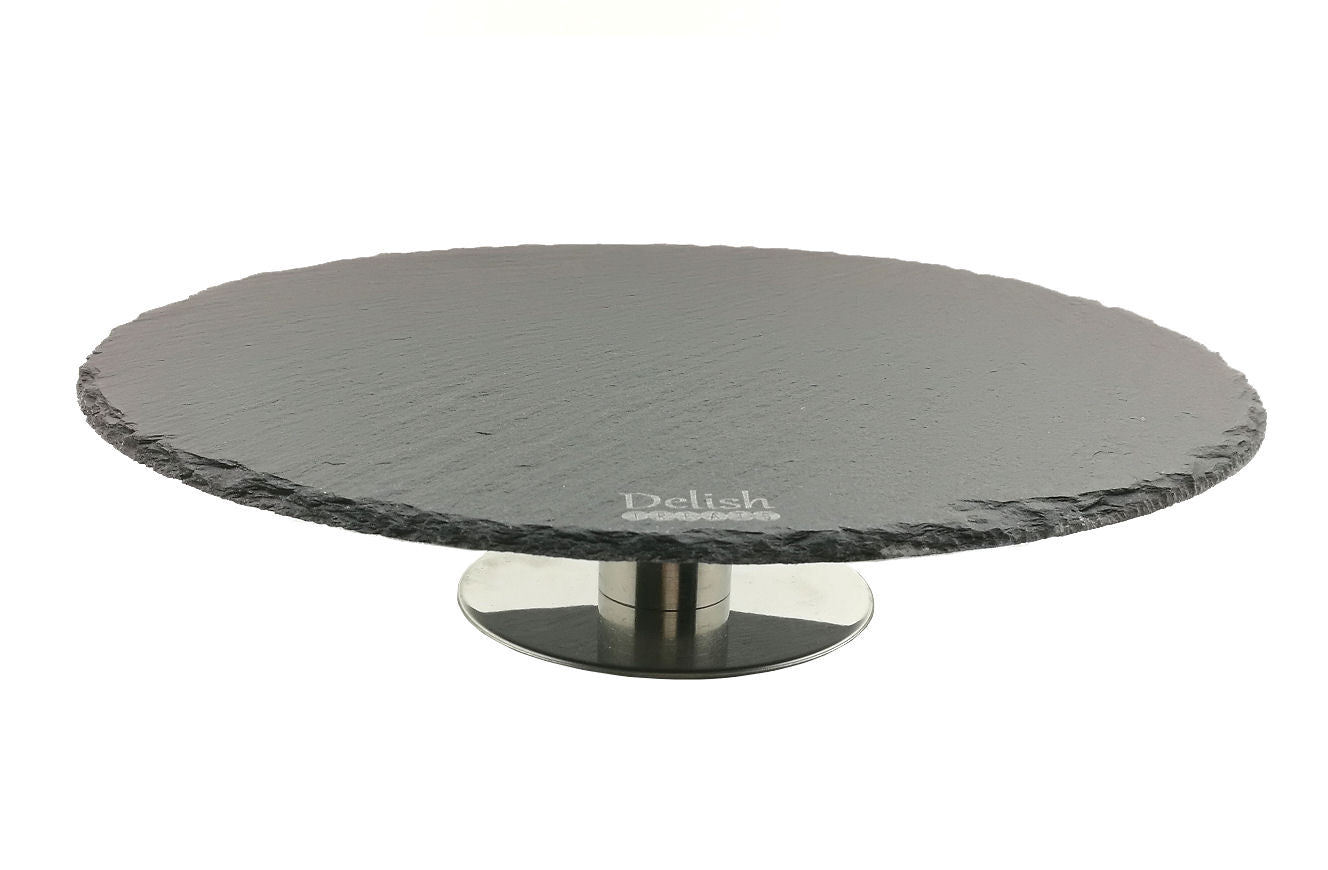 Delish Treats Round Black Slate Cake Stand - Shopaholic for Kids