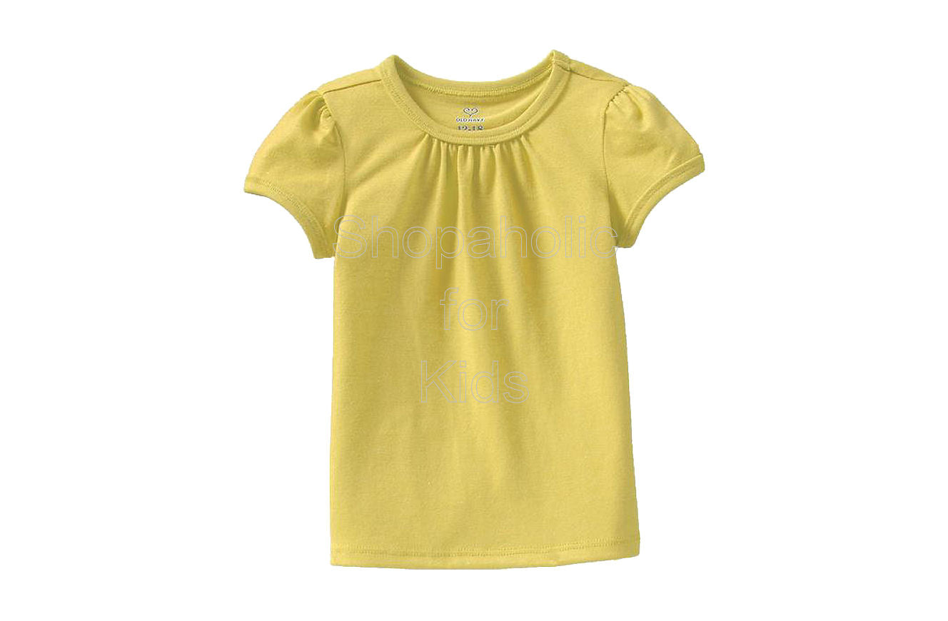 Old Navy Ruched-Shoulder Tees - Lemon Decadence - Shopaholic for Kids