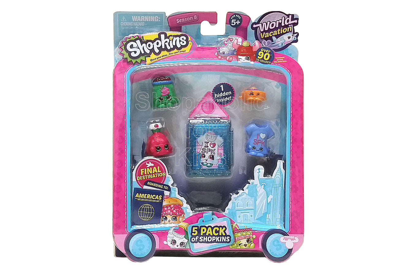 Shopkins Season 8 World Vacation, 5 Pack - Americas