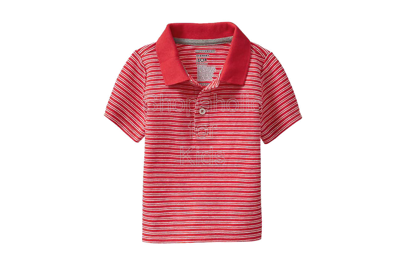 Old Navy Striped Pique Polos Color: Mini Red Stripe