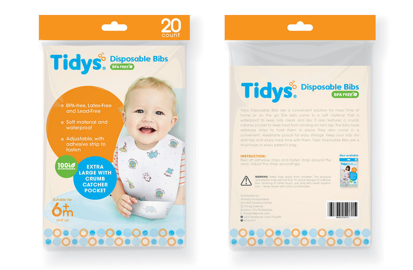 Tidys Disposable Bibs - Pack of 20 - Shopaholic for Kids
