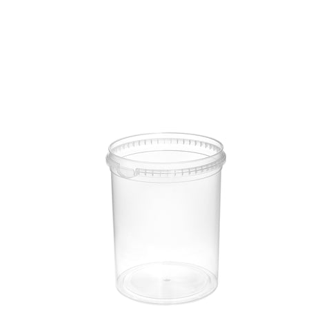 1Ltr Clear High Tub - 200 qty