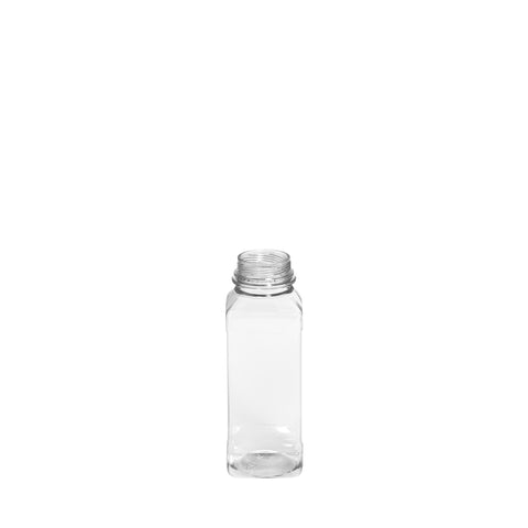 250ml Clear Square Juice Bottle