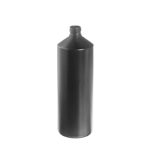 1ltr Black Cylindrical Bottle